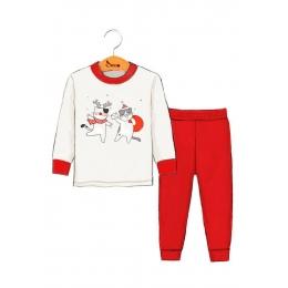 Пижама Robinzone Вам письмо Красный с молочным