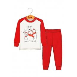 Пижама Robinzone Новогодняя компания Красный с молочным