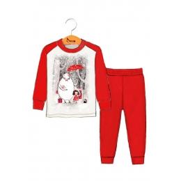 Пижама Robinzone Сказочный лес Красный с молочным