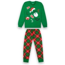 Пижама Габби PGМ-20-30-2 Зеленая с красным