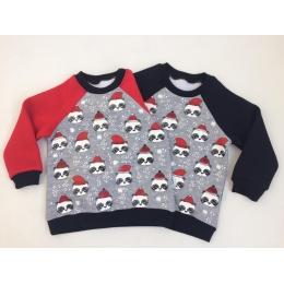 Кофта Robinzone Снежная панда-1 Меланж с красным
