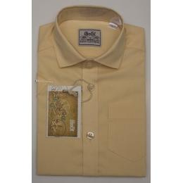 Рубашка для мальчика, короткий рукав, персик
