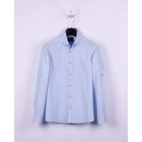 Рубашка BoGi casual Бело-голубая