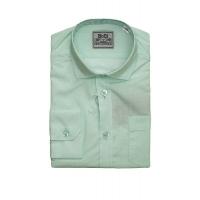 Рубашка классическая, длинный рукав, мята