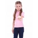 Футболка-поло для девочки, 100% хлопок - интерлок
