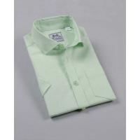 Рубашка для мальчика, короткий рукав, 80% хлопок, ментол