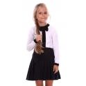 Кофта для девочик, бант+контрастная планка