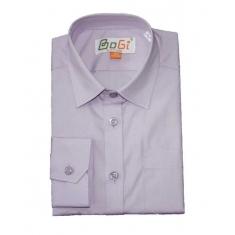 Рубашка классическая, длинный рукав, сирень