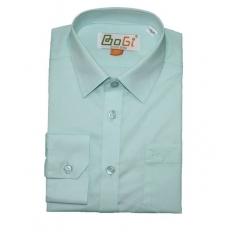 Рубашка классическая, длинный рукав, мятная