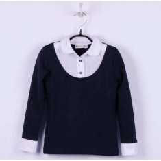 Блуза - обманка, темно-синий