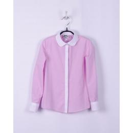 Блузка для девочки, розовый в точечку, 100% хлопок
