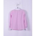 Блузка для девочки, розовый в точечку
