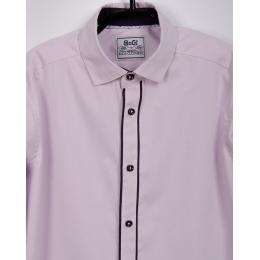Рубашка с длинным рукавом, сирень, 80% хлопок
