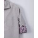 Рубашка с длинным рукавом, беж,75% хлопок