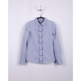 Блуза с длинным рукавом BoGi Голубая  в капельку