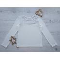 Блуза ГОРОШЕК, длинный рукав, стрейч-кулир,  95% хлопок