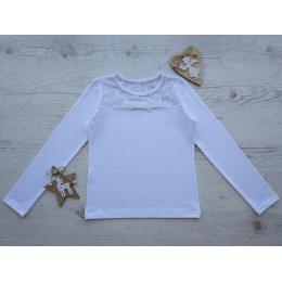 Блуза ГОРОШЕК, длинный рукав, стрейч-кулир,  95% хлопок.